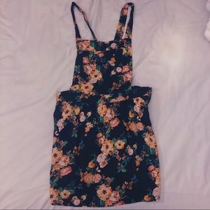 Overall floral dress